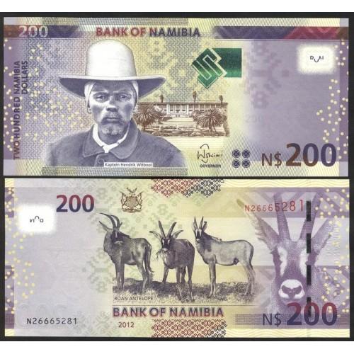 NAMIBIA 200 Dollars 2012