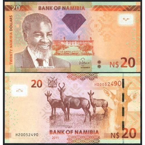 NAMIBIA 20 Dollars 2011