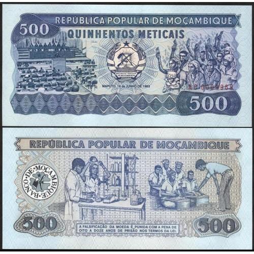 MOZAMBIQUE 500 Meticais 1983