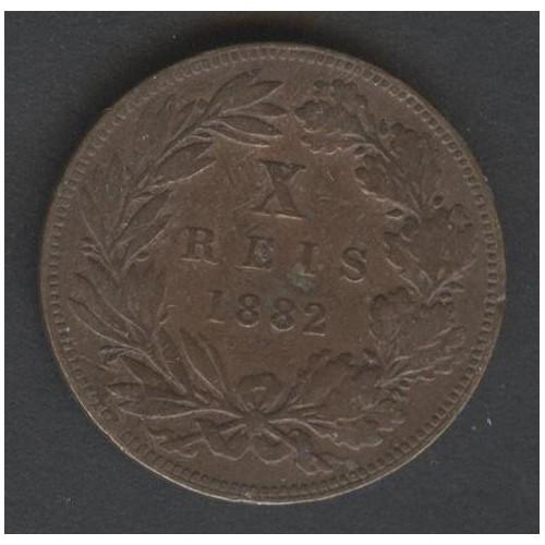 PORTUGAL 10 Reis 1882