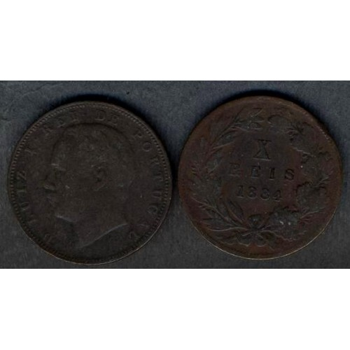 PORTUGAL 10 Reis 1884