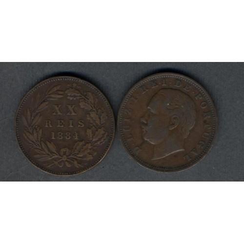 PORTUGAL 20 Reis 1884