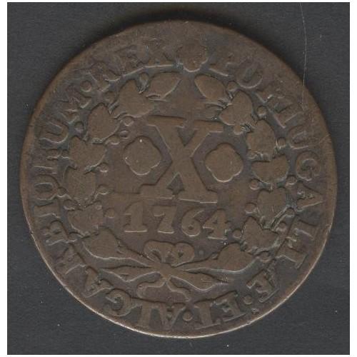 PORTUGAL 10 Reis 1764 Joseph I