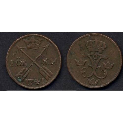 SWEDEN 1 Ore 1741 S.M.