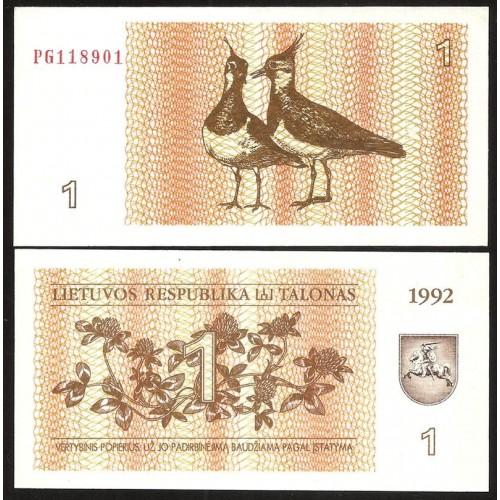 LITHUANIA 1 Talonas 1992
