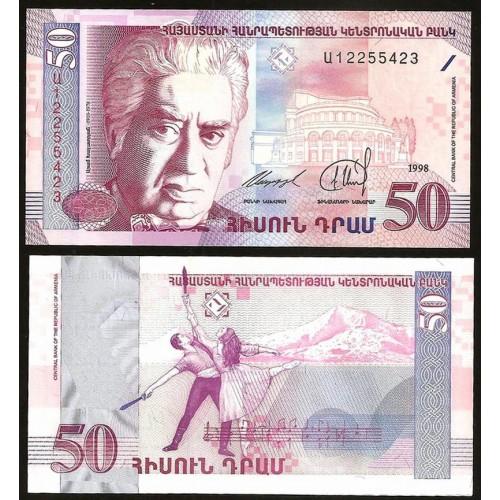 ARMENIA 50 Dram 1998