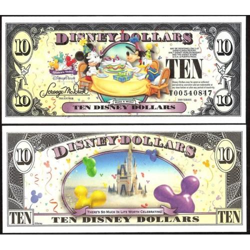 DISNEY 10 Dollars 2009...