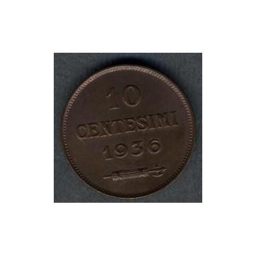 SAN MARINO 10 Centesimi 1936