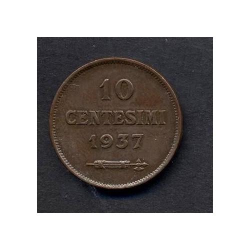 SAN MARINO 10 Centesimi 1937