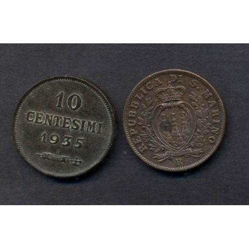 SAN MARINO 10 Centesimi 1935