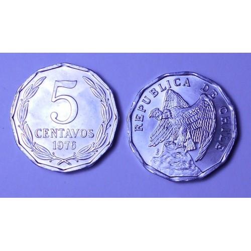 CHILE 5 Centavos 1976
