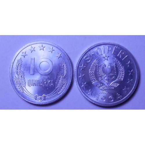 ALBANIA 10 Qindarka 1964