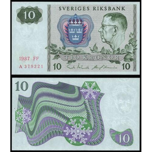 SWEDEN 10 Kronor 1987