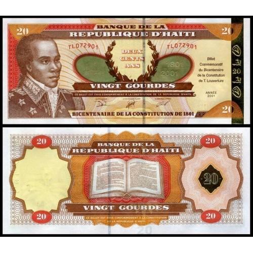 HAITI 20 Gourdes 2001...