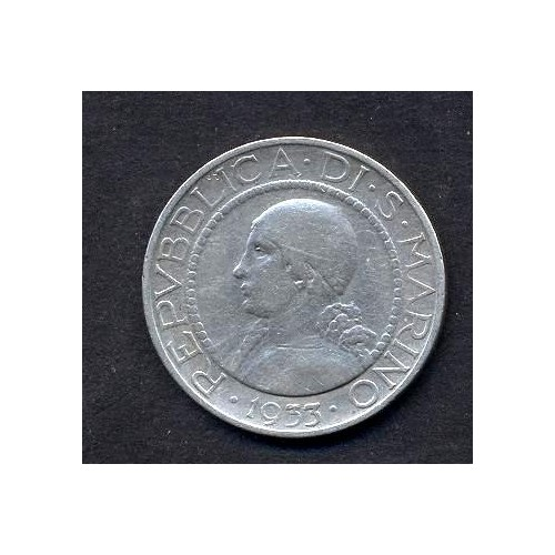 SAN MARINO 5 Lire 1933 AG