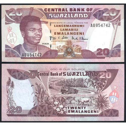 SWAZILAND 20 Emalangeni 2004