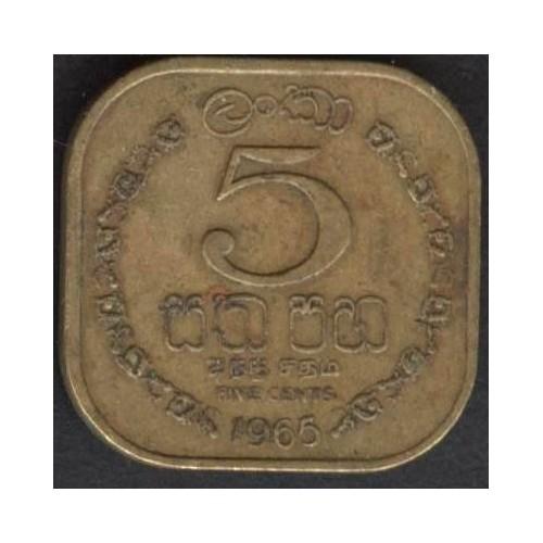 CEYLON 5 Cents 1965