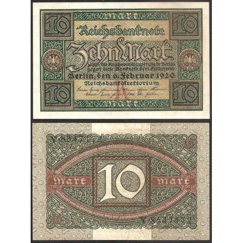 GERMANY 10 Mark 1920 Letter K