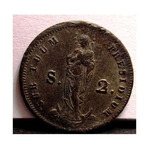 GENOVA 2 Soldi 1814