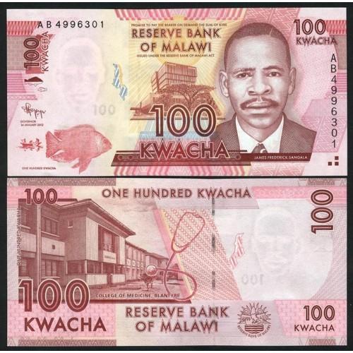 MALAWI 100 Kwacha 2012