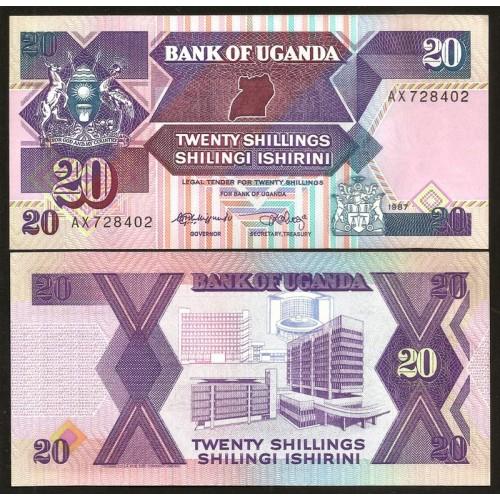 UGANDA 20 Shillings 1987