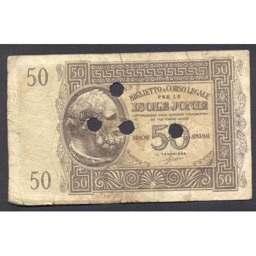 ISOLE JONIE 50 Dracme 1940...