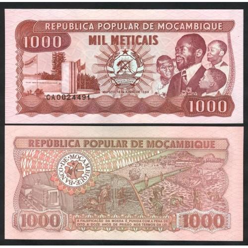 MOZAMBIQUE 1000 Meticais 1989