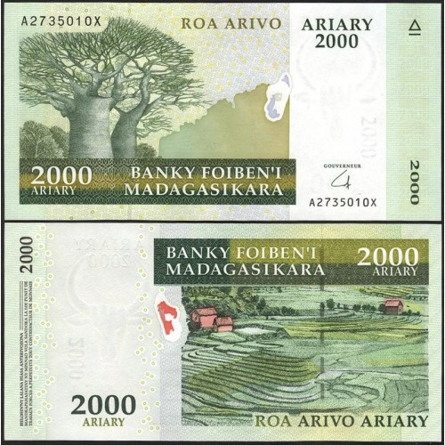 MADAGASCAR 2000 Ariary 2008