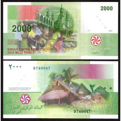 COMOROS 2000 Francs 2005