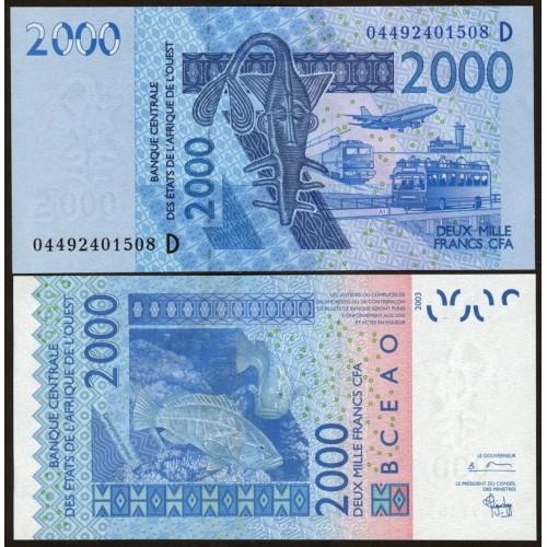 MALI (W.A.S.) 2000 Francs 2004