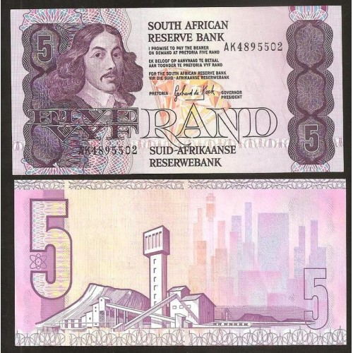 SOUTH AFRICA 5 Rand 1989/90