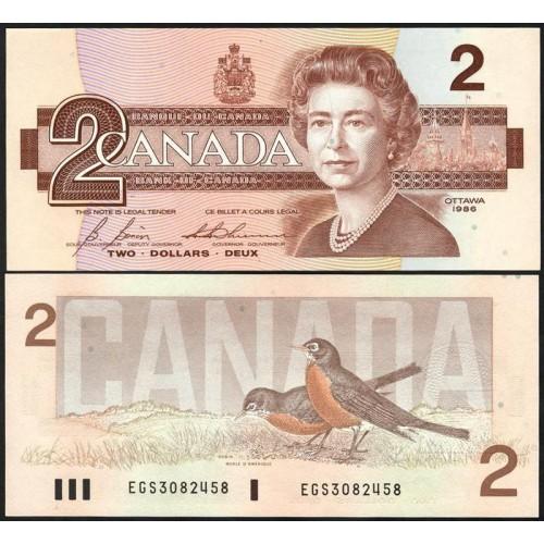 CANADA 2 Dollars 1986