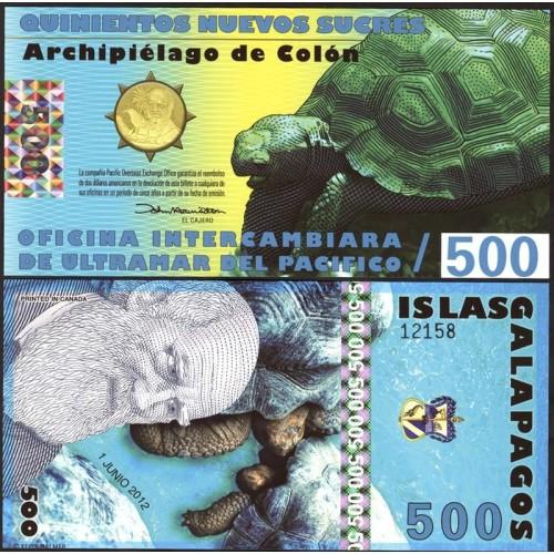 GALAPAGOS 500 Sucres...