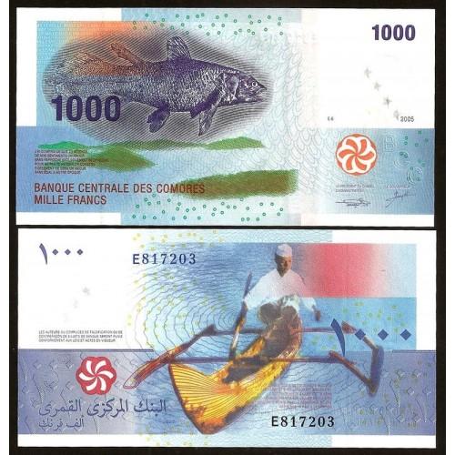 COMOROS 1000 Francs 2005