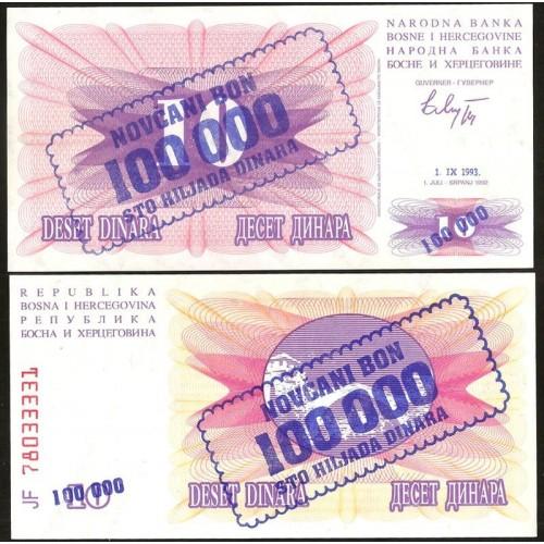 BOSNIA HERZEGOVINA 100.000...