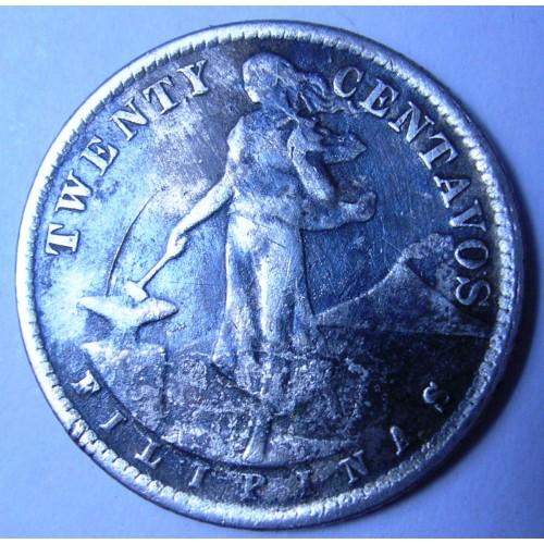 PHILIPPINES 20 Centavos...