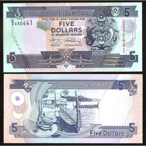 SOLOMON ISLANDS 5 Dollars 2008