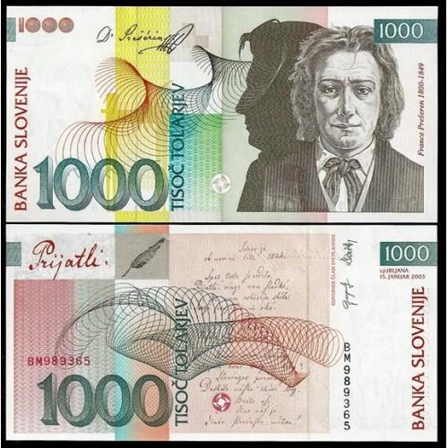 SLOVENIA 1000 Tolarjev 2003