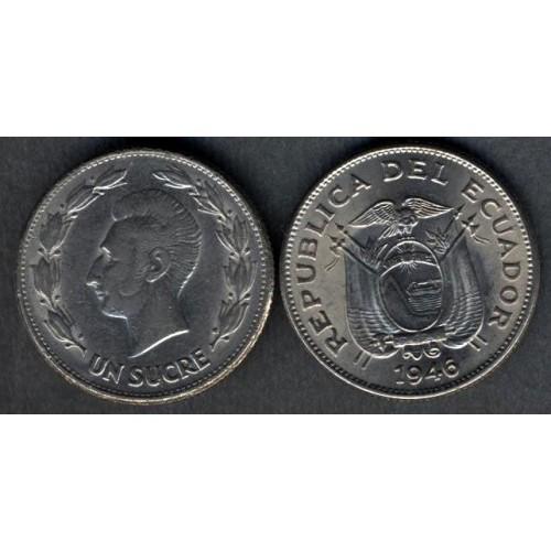 ECUADOR 1 Sucre 1946