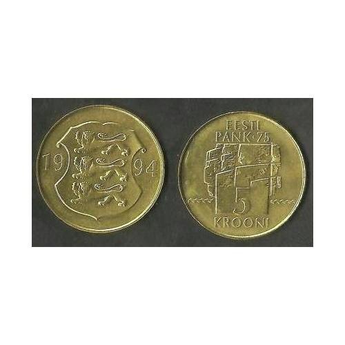 ESTONIA 5 Krooni 1994 75th...