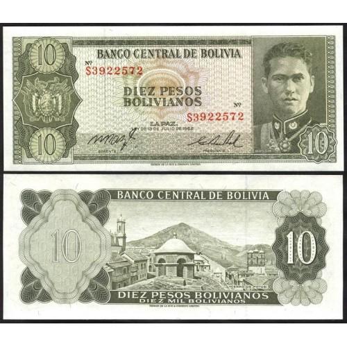 BOLIVIA 10 Pesos Bolivianos...