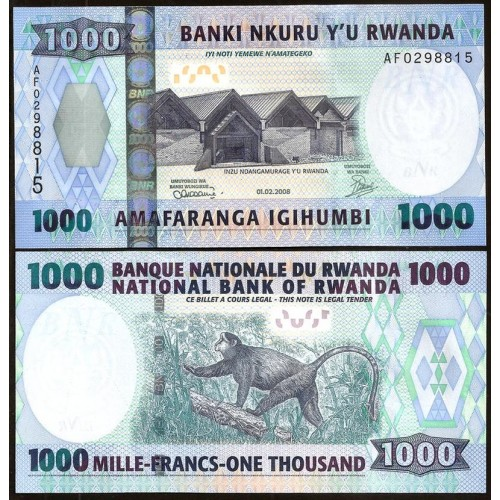 RWANDA 1000 Francs 2008