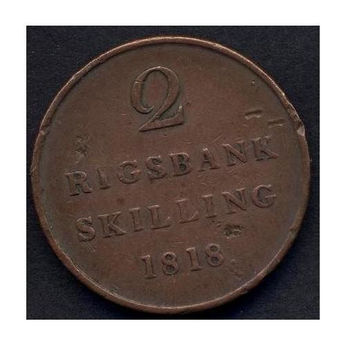 DENMARK 2 Rigsbankskilling...