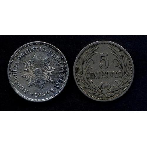 URUGUAY 5 Centesimos 1936