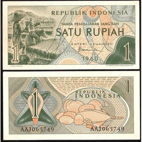 INDONESIA 1 Rupiah 1960
