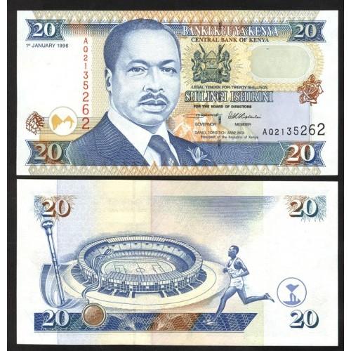 KENYA 20 Shillings 1996