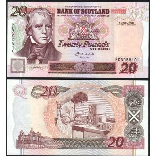 SCOTLAND 20 Pounds 2004