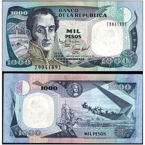 COLOMBIA 1000 Pesos 03.01.1994