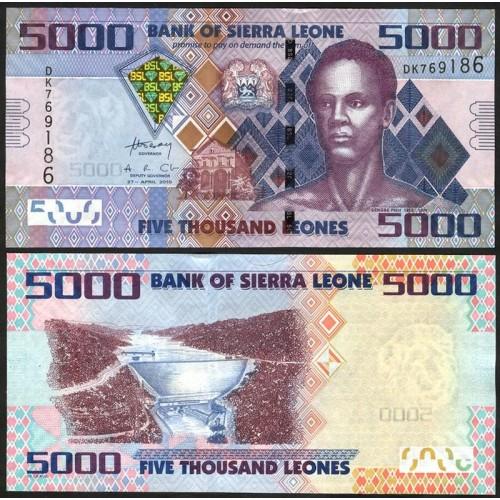 SIERRA LEONE 5000 Leones 2010