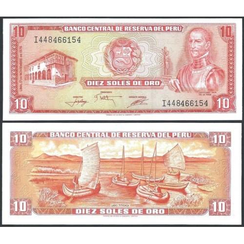 PERU 10 Soles de Oro 1976